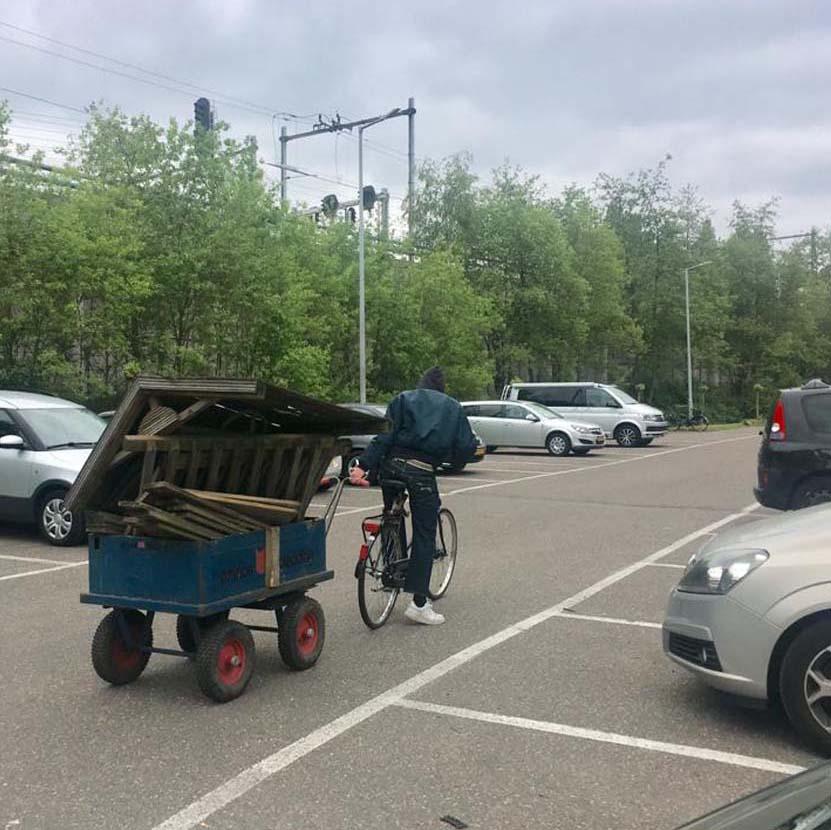 Parkeren en aanhangers op complex