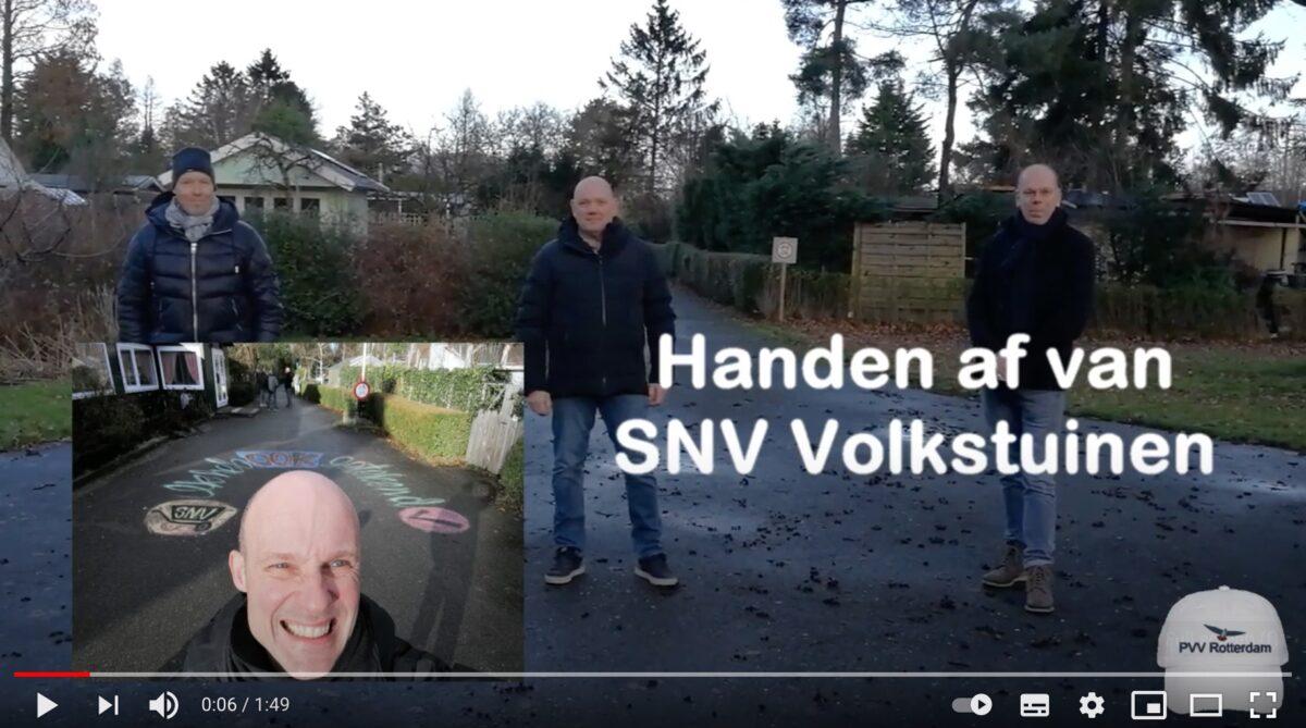 Handen af van SNV Volkstuinen